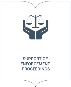 Support of enforcement proceedings
