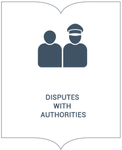 Disputes with authorities